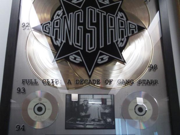 gang starr full clip plaque