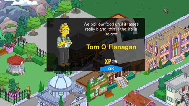 The Simpsons Tom O'Flanagan character