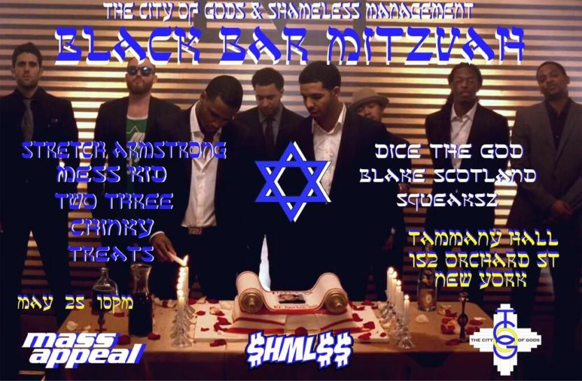 black bar mitzvah memorial day weekend