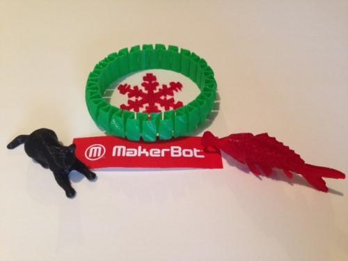 makerbot 3d printing model art