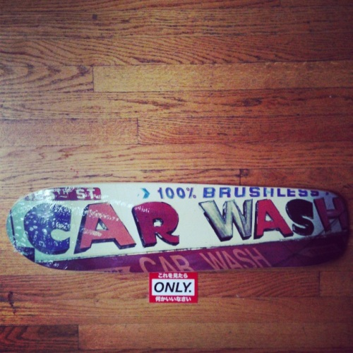 ONLY NY Car Wash skateboard cruiser deck