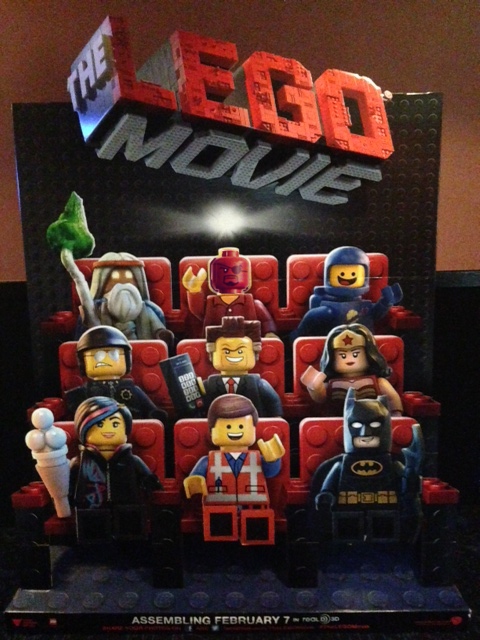 lego movie cardboard cutout promo
